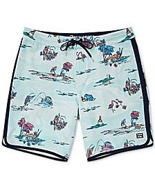 "Men's Lineup Printed 19"" Board Shorts"