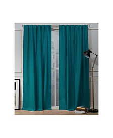 "Nicole Miller Mellow Slub Textured Hidden Tab Top 54"" X 96"" Curtain Panel Pair"