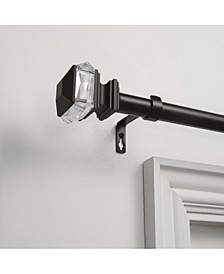 """Marquise 1"""" Curtain Rod and Coordinating Finial Set, Adjustable 36""""-72"""""""