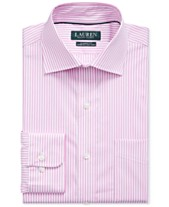 c701fc5fce50 Lauren Ralph Lauren Men's Pink Stripe Dress Shirt