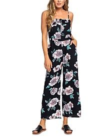 Roxy Juniors' Floral-Print Jumpsuit