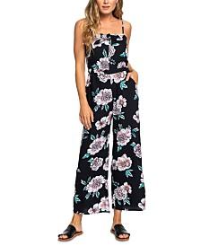 Roxy Juniors' Floral-Print Jumpsuit