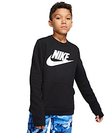 Nike Big Boys Club Fleece Logo Sweatshirt