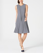 05829eda63e Style & Co Striped Swing Dress, Created for Macy's