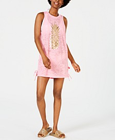 Juniors' Pineapple Lace-Up Cover-Up, Created for Macy's