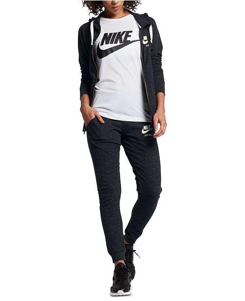 8257b670ff7f2c Nike Gym Vintage Full-Zip Hoodie & Reviews - Tops - Women - Macy's