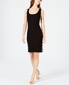 bebe Juniors' Logo-Tape Tank Dress