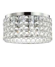 "Ellen 15"" 3-Light Crystal/Metal LED Flush Mount"