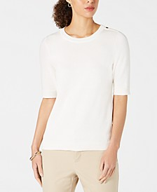 Petite Elbow-Sleeve Sweater, Created for Macy's