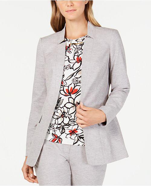 Calvin Klein Petite Linen-Blend Blazer