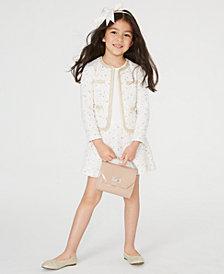 Blueberi Boulevard Little Girls 2-Pc. Tweed Coat & Dress Set