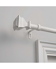 "Napoleon 1"" Curtain Rod and Coordinating Finial Set, Adjustable 36""-72"""