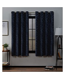 "Kilberry Woven Blackout Grommet Top Window 52"" X 63"" Curtain Panel Pair"