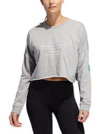 Women's Global Graphic Cropped Sweatshirt