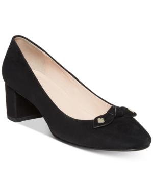 Kate Spade Women's Benice Block Heel Pumps In Black