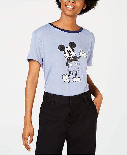 Disney Juniors' Mickey Mouse Graphic Ringer T-Shirt