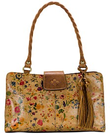 Patricia Nash Prairie Rose Rienzo Leather Satchel