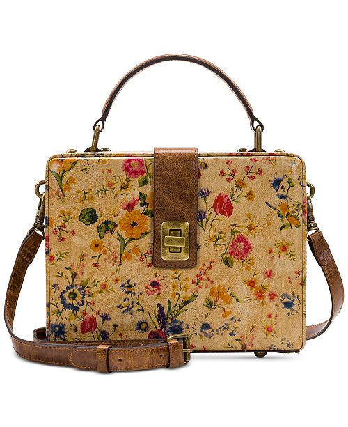 Patricia Nash Prairie Rose Tauria Leather Satchel