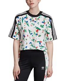 adidas Originals Bellista Cropped Floral T-Shirt
