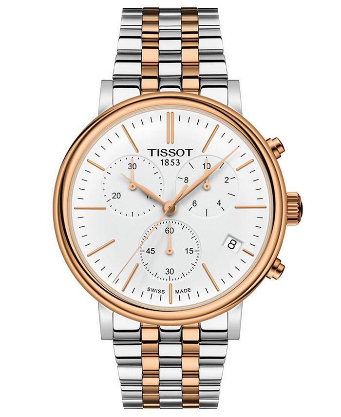 Tissot - Men's Swiss Chronograph Carson Premium Two-Tone Stainless Steel Bracelet Watch 41mm