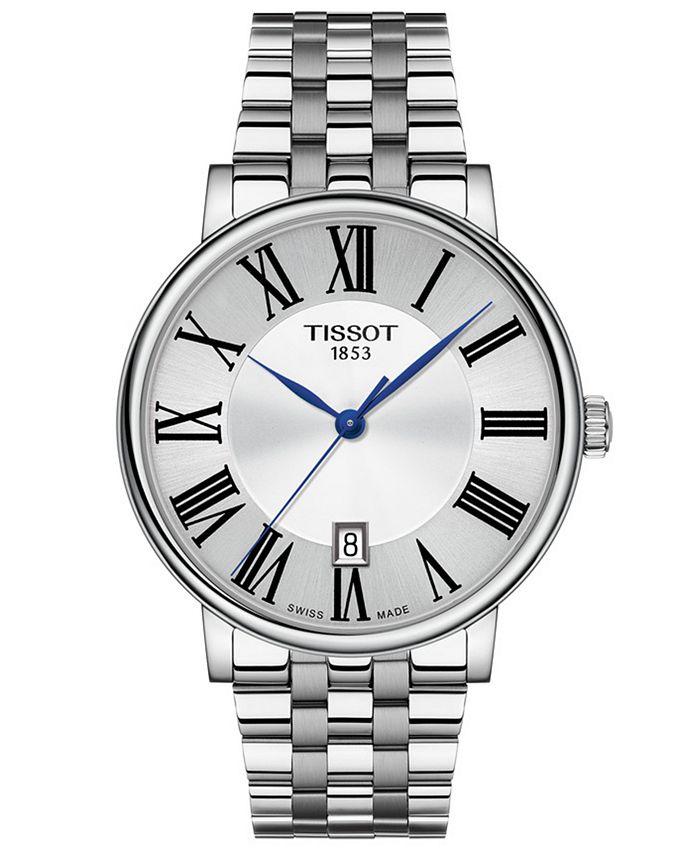 Tissot - Men's Swiss Carson Premium Stainless Steel Bracelet Watch 40mm