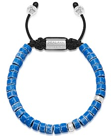Nialaya The Tulum Collection - Blue Ceramic and Silver