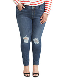 Levi's® Trendy Plus Size  711 Ripped Skinny Jeans