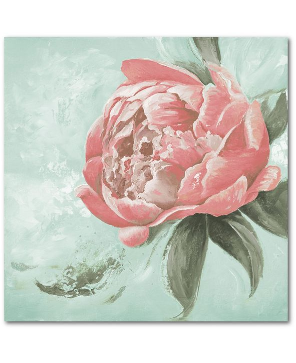 "Courtside Market Peonies II 16"" x 16"" Gallery-Wrapped Canvas Wall Art"