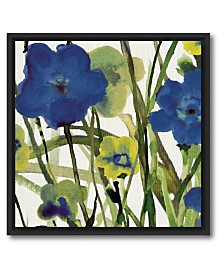 Courtside Market Picking Flowers I Canvas Wall Art with Float Moulding