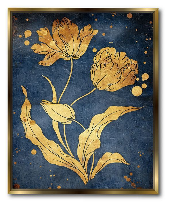 """Courtside Market Floral 16"""" x 20"""" Canvas Wall Art with Float Moulding"""