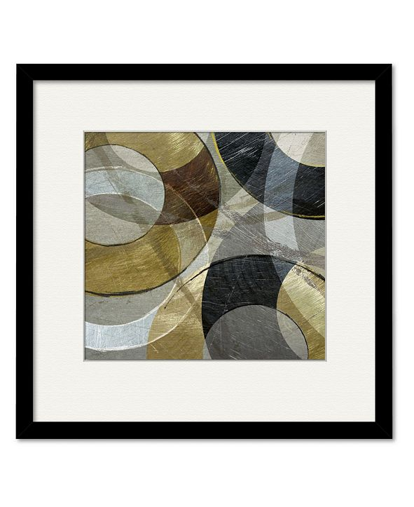 """Courtside Market Metallic Atmosphere 16"""" x 16"""" Framed and Matted Art"""