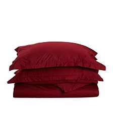 Superior 530 Thread Count Premium Combed Cotton Solid Duvet Set - Twin