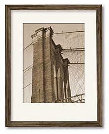 Sepia Brooklyn Bridge Framed and Matted Art Collection