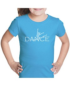 Girl's Word Art T-Shirt - Dancer