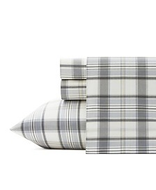 Eddie Bauer Chinook Plaid Sheet Set, Twin