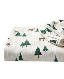 Deer Hollow Flannel Sheet Set, Full