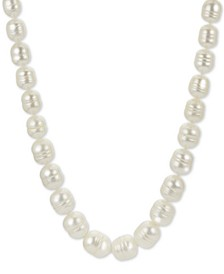 "Baroque Cultured Freshwater Pearl 18"" Necklace (5-1/5 -9-1/2mm) in Sterling Silver"