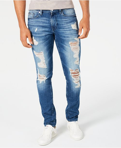 GUESS Men's Slim-Fit Morocco Ripped Jeans