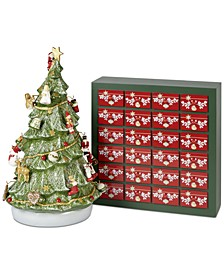 Christmas Toys Memory Advent Calendar 3D Tree with Ornaments & Storage Box