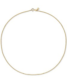 """Cable Link 18"""" Chain Necklace in 18k Gold"""