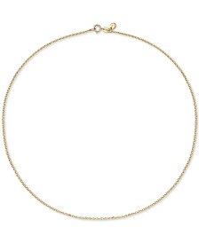 """Chow Tai Fook Cable Link 18"""" Chain Necklace in 18k Gold"""