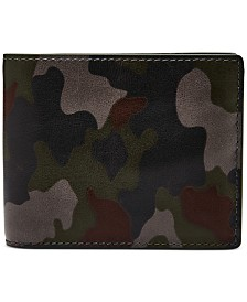 Fossil Men's Men's Raff Flip ID Camo Leather Wallet