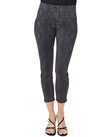 Pull-On Tummy Control Skinny Ankle Jeans