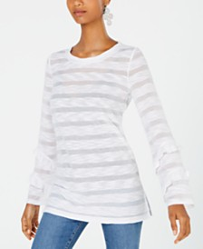 I.N.C. Illusion-Knit Top, Created for Macy's
