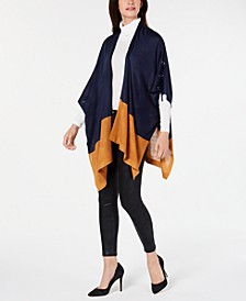 Lace-Up Two-Tone Grommet Topper