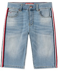Tommy Hilfiger Little Boys Jensen Revolution-Fit Stretch Taped Denim Shorts