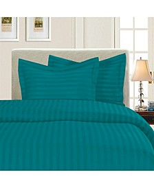 1500 Thread Count Egyptian Quality Luxurious Silky - Soft Wrinkle Free 3-Piece Stripe Duvet Cover Set, King/Cali King