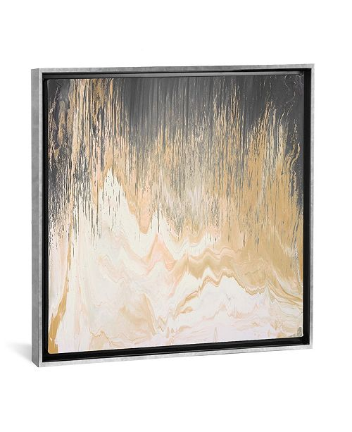"""iCanvas Abstracted Chevron Yellow by Blakely Bering Gallery-Wrapped Canvas Print - 37"""" x 37"""" x 0.75"""""""