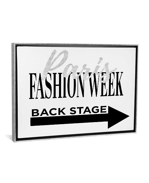 "iCanvas Fashion Week Paris Silver by Amanda Greenwood Gallery-Wrapped Canvas Print - 26"" x 40"" x 0.75"""