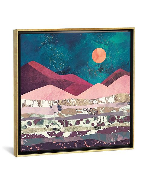 "iCanvas Magenta Mountain by Spacefrog Designs Gallery-Wrapped Canvas Print - 18"" x 18"" x 0.75"""